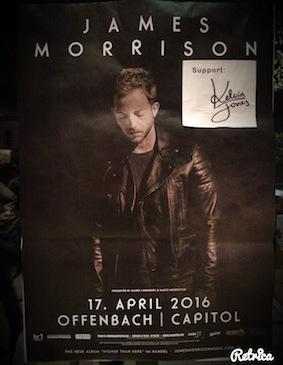 James Morrison Plakat (Foto: mm)